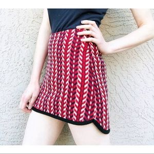 J.O.A. Lulus Preppy Chevron Textured Mini Skirt